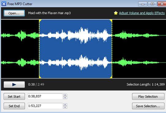 free mp3 cutter - phần mềm cắt ghép nhạc miễn phí