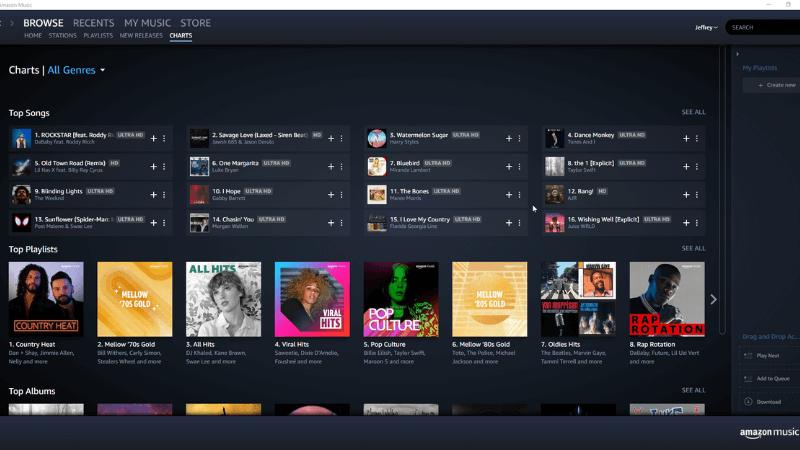 app nghe nhạc Amazon