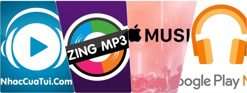 các app nghe nhạc phổ biến
