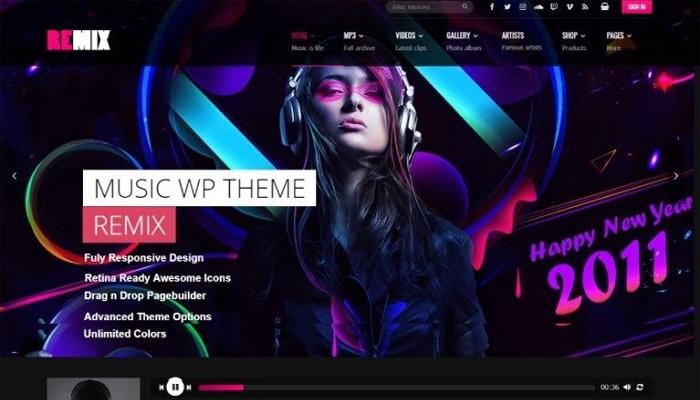 Musico - Giao diện WordPress cho website âm nhạc