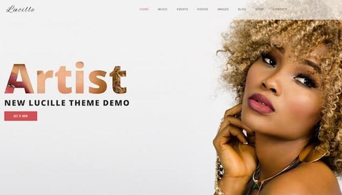Lucille - Theme WordPress giới thiệu ca sĩ, nhạc sĩ