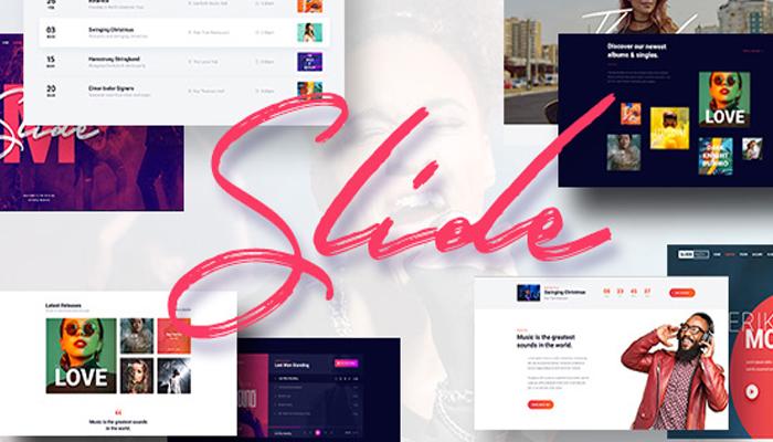 Slide - Giao diện WordPress giới thiệu album nhạc